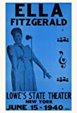 Ella Fitzgerald Concert Poster, New York City, 1940, Jazz