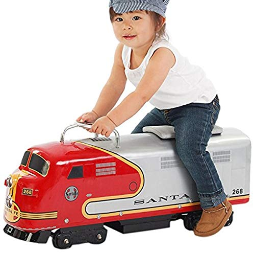 Product Image of the Morgan Cycle Santa Fe Railroad Engine Foot to Floor Ride-On Train, Red