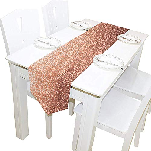 Tafelloper wooncultuur, hipster roze goud glitter tafelkleed runner koffie mat