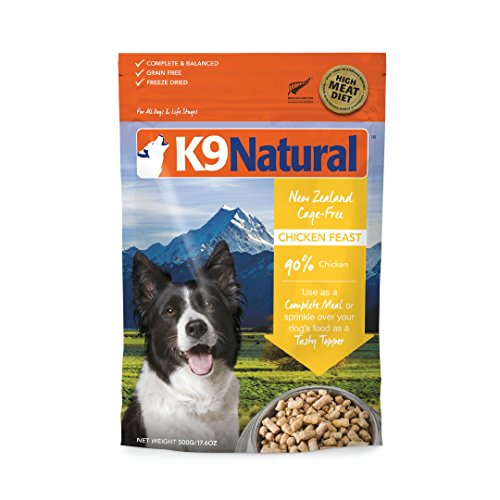 Freeze Dried Dog Food Or Topper By K9 Natural - Perfect Grain Free, Healthy, Hypoallergenic Limited Ingredients Booster For All Dog Types - Raw, Freeze Dried Mixer - Chicken 17.6Oz Pack