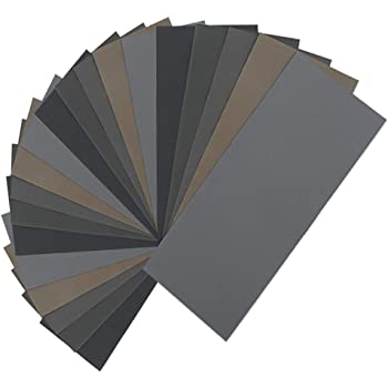AUSTOR 18 Pcs Wet and Dry Sandpaper 3000 5000 7000 High Grit Assorted 9 x 3.6 in