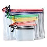 'Zeaye 12-teilige Reißverschlusstasche aus Mesh- wasserdichte transparente Reißverschlusstasche -6 Größen A4 / A5 / A6 / B4 / B5 / B6- Perfekt für Büro Dokumenten und Reiseutensilien zu organisieren'
