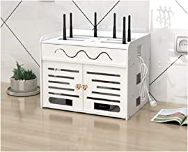 weenine Home Storage Box for Desk/Router |Cable Storage Box, White