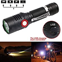 Zoomable Lantern CREE L2 Powerful LED Flashlight Waterproof Torch Outdoor Camping Hiking Torch LB88-White, Black