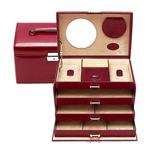 Windrose coffret a bijoux Merino 9 - Rouge