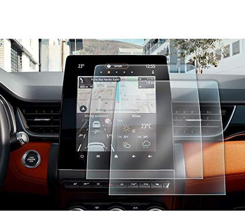 LFOTPP Clio 5 9.3 Zoll Navigation Schutzfolie, GPS Navi PET Transparenter Displayschutzfolie Kunststoff Folie 2 Stück