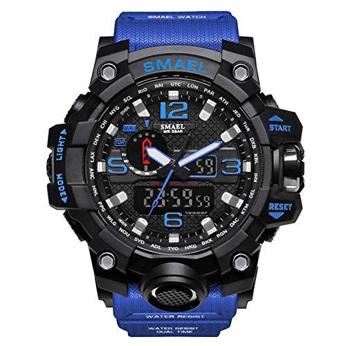 Orologio Militare da Uomo Orologio da Polso Impermeabile da 50m Orologio Sportivo con Orologio al Quarzo a LED Maschio Sport Watch Men S Shock,Dark Blue