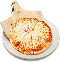 Hans Grill Pizza Stone for Oven and Grill/BBQ Cook Pizzas in Seconds 15