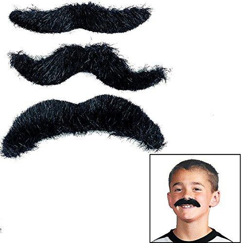 Moustaches auto-adhésives mexicaines western lot X12 - A