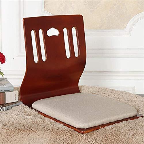 GYCOZ Decoración del hogar (2 piezas/lote) Silla Zaisu japonesa de salón al por mayor cereza/negro/madera natural muebles tatami suelo sin piernas Zaisu C (color: A)