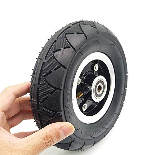 DLILI Conjunto de Tubo de neumático de neumático de Scooter eléctrico neumático de 8 Pulgadas con cojinete de Cubo de Rueda (Negro)