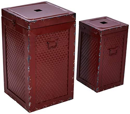 Better & Best Set de 2 taburetes de Hierro, Tipo Caja, C