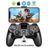 Vbepos Mobile Game Controller 2.4G Wireless Gamepad Bluetooth Gaming Joystick Compatible with iPhone iOS/Android Phone/PC Windows/Smart TV/TV Box/ PS3 - Black