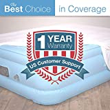 Air Mattress King Size - Best Choice Raised Inflatable Bed with Fitted Sheet and Bed Skirt - Built-in High Capacity...