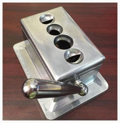 Stainless Steel Cast Body Quad Table Top Desktop Cigar Cutter AMCICI