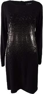 Womens Metallic Ombre Sheath Dress
