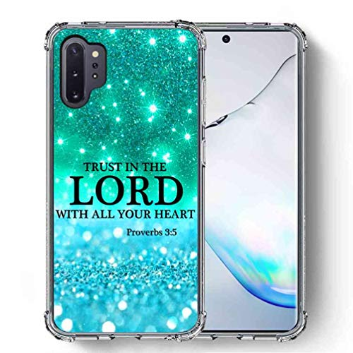 for Samsung Galaxy Note 10 Plus Case, Galaxy Note 10 Plus 5G Case (2019), SuperbBeast [Proverbs 3:5 Trust in The Lord with All Your Heart] Ultra Slim Thin Protective Case Cover/Reinforced Corner