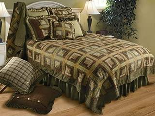 VHC Brands Rustic & Lodge Tea Cabin Green Bed Skirt, Queen