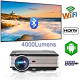 Videoproiettore Android Android 4000 lumen con Wifi Bluetooth, Multimedia LCD Proiettore Home Movie...