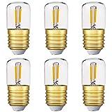 Mini bombilla LED tubular, 1W T28 Edison Bombilla de filamento LED E27 Base de...