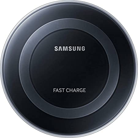 Samsung Qi Certified Fast Charge Wireless Charging Pad for Galaxy S10, iPhone 11 and Other Qi Compatible Smartphones with Built-in Cool Fan - Bulk Packaging - Black