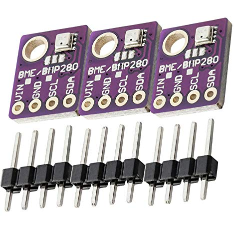 AZDelivery 3 x GY-BME280 Sensor de temperatura, humedad y presion atmosferica compatible con Arduino y Raspberry Pi con E-Book incluido!
