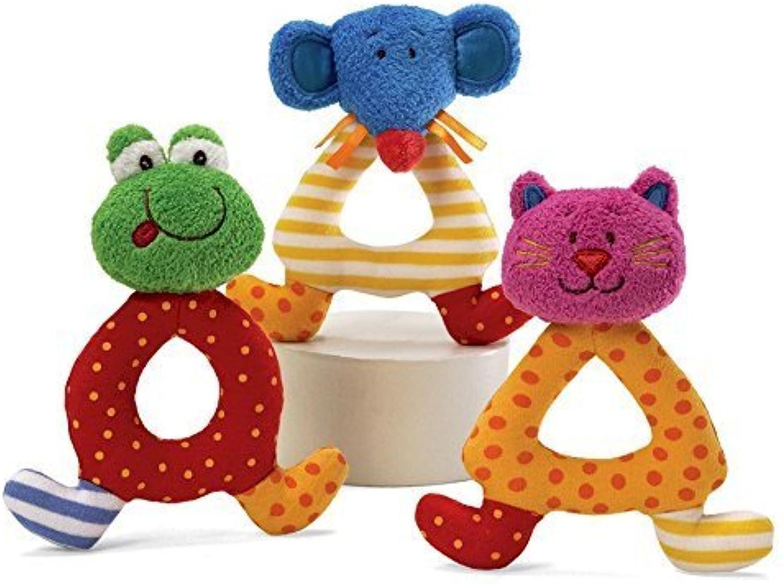 Baby Gund Sock Hop Rattle  Cat by Gund