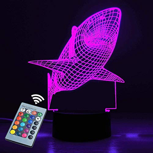Sleeplite - Lámpara de noche para niños (3D, 16 colores, con mando a distancia, regalo de cumpleaños para niños