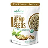 Organic Hulled Hemp Seeds 16oz | Raw Hemp Hearts 9g of Protein Omegas 3 and 6 Fatty Acids - Vegan, Keto, Paleo Friendly Low Carb Energizing Superfood For Snack, Salads, Topping by Alovitiox | 1 lb Bag