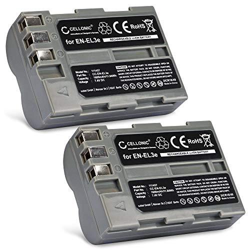 CELLONIC 2X Batería Premium Compatible con Nikon D50 D70s D80 D90 D200 D300 D300S (1600mAh) EN-EL3,EN-EL3e bateria de Repuesto, Pila reemplazo, sustitución
