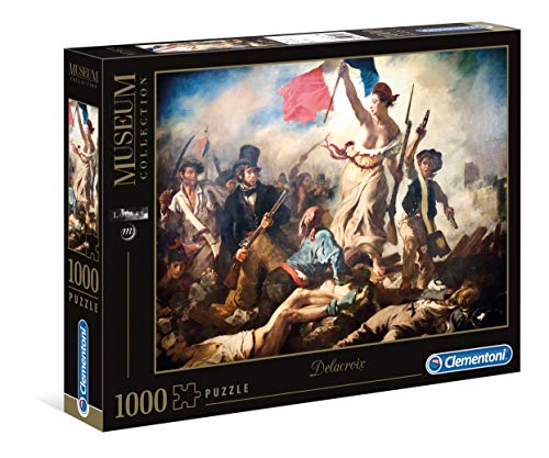 Clementoni Puzzle 1000 Piezas Museos Delacroix: La Libertad guiando al Pueblo, Color (39549.1)