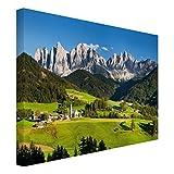 Leinwandbild - Geislerspitzen in Südtirol - Quer 3:4, 75cm