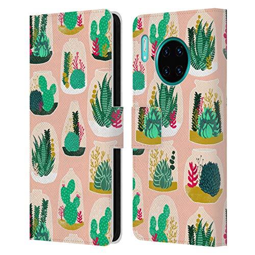 Officiële Andrea Lauren Design Terrarium Plant Patroon Lederen Book Portemonnee Cover Compatibel voor Huawei Mate 30 Pro / 5G
