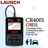 LAUNCH Cr4001 CReader CR 4001 Lector códigos OBD2, escáner Completo OBDII/EOBD, diagnóstico automático con Sensor de O2 y Prueba de Monitor a Bordo