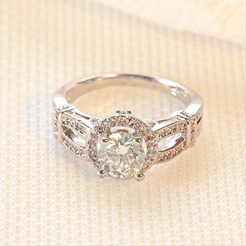 IWINO Fashion Mossan Stone Engagement Ring Woman Eight Heart Eight Arrow Stone Ring