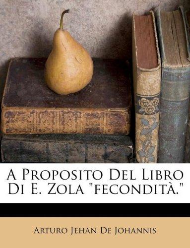 A Proposito Del Libro Di E. Zola