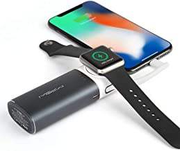 MIPOW Portable Apple Watch Charger, MFi Certified Magnetic 6000mAh Power Bank with Built-in iPhone Fast Charging Cord Cable, Pocket-Sized Battery for iWatch Series 4 3 2 1 Nike 38mm 42mm