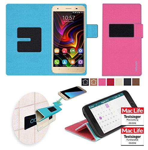 reboon Hülle für Oukitel C5 Pro Tasche Cover Case Bumper | Pink | Testsieger