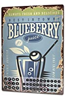 カレンダー Perpetual Calendar Food Restaurant Blueberry Juice Tin Metal Magnetic