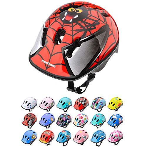 Casco Bicicleta Bebe Helmet Bici Ciclismo para Niño - Cascos para Infantil Bici Helmet para Patinete Ciclismo Montaña BMX Carretera Skate Patines monopatines (XS 44-48 cm, Spider)