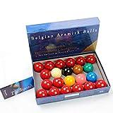 Aramith Tournament- Juego de bolas de snooker (22 bolas, 5,2 cm)