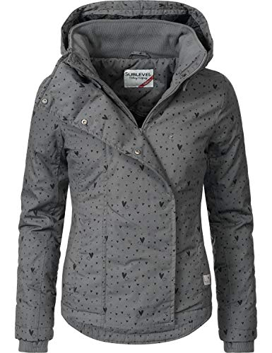 Sublevel Damen Übergangsjacke Outdoorjacke 46550D Grey Gr. S