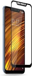 Xiaomi Pocophone F1 / Poco F1 Tempered Glass Screen Protector Silk Print Arc Edge Full Coverage - Black