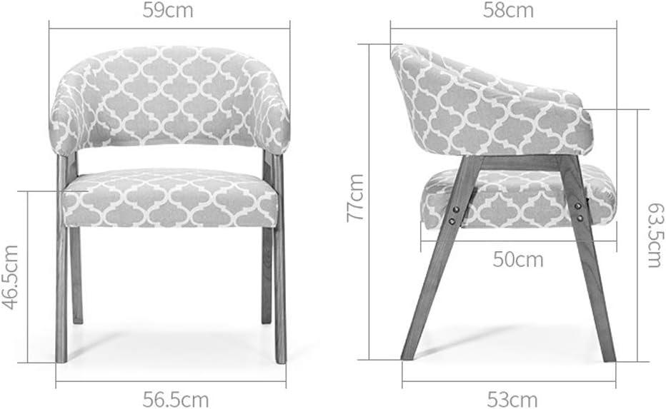 SLL- Chaise de Salle, Chaise de Bureau Simple, créative Dossier, Chaise Loisirs, Maison Adulte Chaise de Salle Moderne (Color : Brown-B) Light Color-a