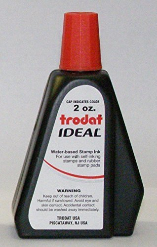 New RED 2oz Trodat Ideal self inking stamp refill by Trodat