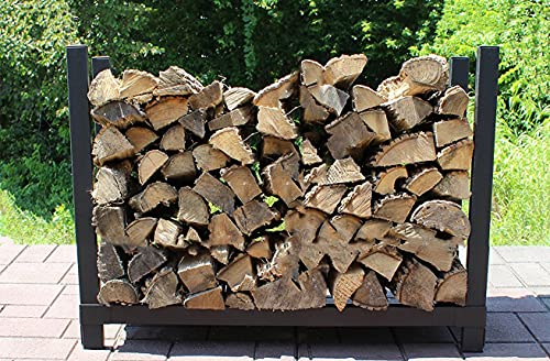 The Woodhaven 3 Foot Firewood Log Rack Without Cover