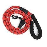 Cuerda de Seguridad para Perros Correa para Tirar de Mascotas, Cadena Reflectante para Perros Empuñadura Suave Correa Reflectante para Tirar de(Red)