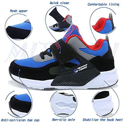 Zapatos Niño 33 Infantil Zapatillas Sneakers Zapatillas Running Unisex Zapatos Deportivos Running Shoes Calzado Trekking Ligero Transpirables Azul