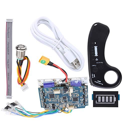 Tomanbery Baja Velocidad Impermeable Alarma de bajo Voltaje Sinusoide Dual Drive Hub Controlador de Scooter Conjunto Comunicación bidireccional Control Remoto eléctrico Universal para Scooters