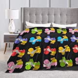 Eppedtul Paper Craft Yoshis Yoshi&39s Crafted World Stickers Ultra-Soft Micro Fleece Blanket Couch 60'' x50